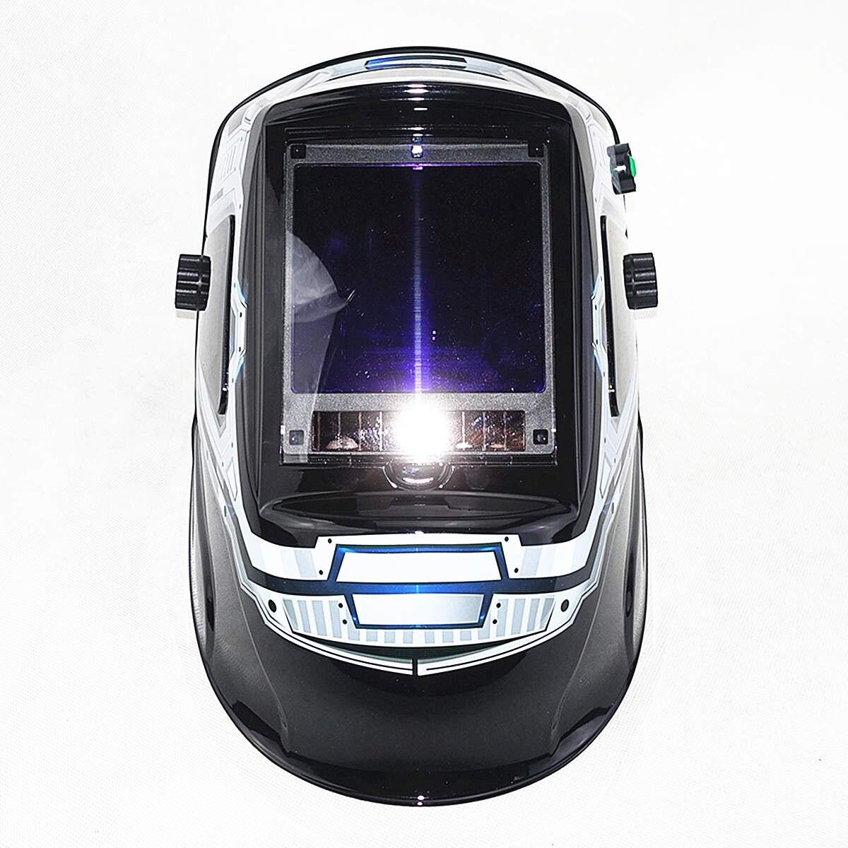 Máscara de soldadura de escurecimento automático 3 vista windows tamanho 100x93mm (3.94x3.66 ) din 4 13 óptico 1111 5 sensores ce capacete de soldagem - 2