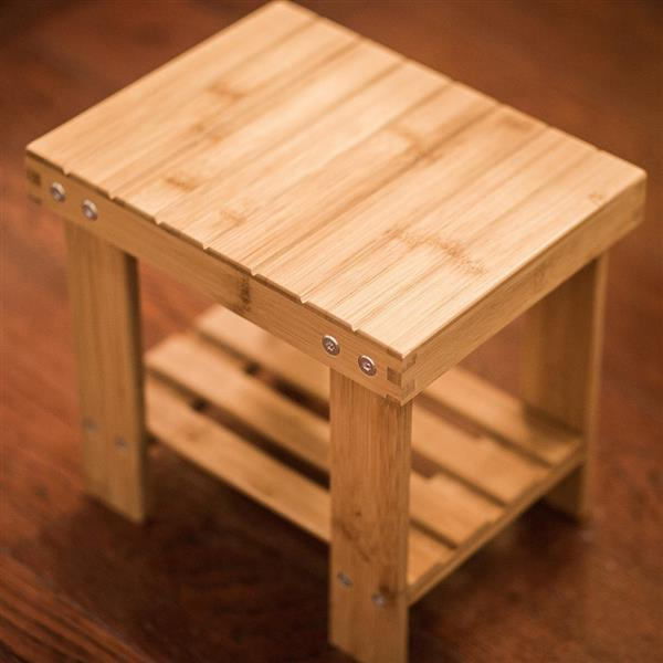 Portable Minimalist Modern Wooden Stool Children's Stools Outdoor Fishing Chair Small Stool With Storage Shelf For Bedroom