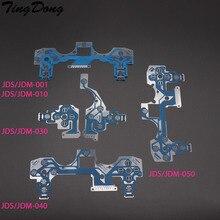 Tindong cabo flexível para controle de ps4, 20 peças para joystick ps4 pro slim, peça de reparo, jds jdm 001 011 030 040 050