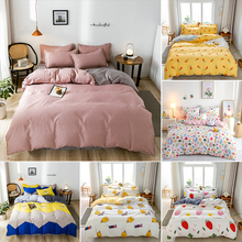 Pillowcase Duvet-Cover Linens Flat-Sheet King-Size Textile-Products Bed Cotton Home 3