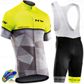 Nw 2020 Northwave Summer Cycling Jersey Short Sleeve Jerseys Set Breathable Mtb Bib Shorts Bicycle Clothes Gel Pad Cyc Clothing