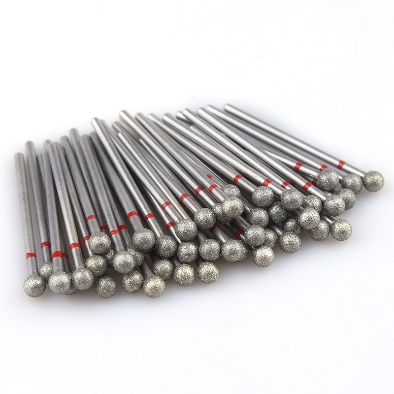 50PCS/Pack Diamond Nail Milling Cutter Rotary Burr For Nail Files Cuticle Clean Drill Bits Apparatus For Manicure Art Tools