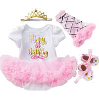0-24M Baby Girl Clothes Crown Lace Princess Dress For Baby 1st Year Birthday Dress Cute Baby Clothes Infant Party Dress 2020 hot