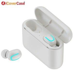 Image 1 - Twins Bluetooth kulaklık Apple iPhone 11 Pro Max X XS XR 8 7 6 6s artı 5 5S SE 2020 kablosuz kulaklıklar şarj kutusu ve mikrofon
