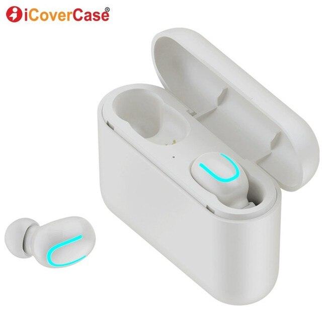Twins Bluetooth kulaklık Apple iPhone 11 Pro Max X XS XR 8 7 6 6s artı 5 5S SE 2020 kablosuz kulaklıklar şarj kutusu ve mikrofon