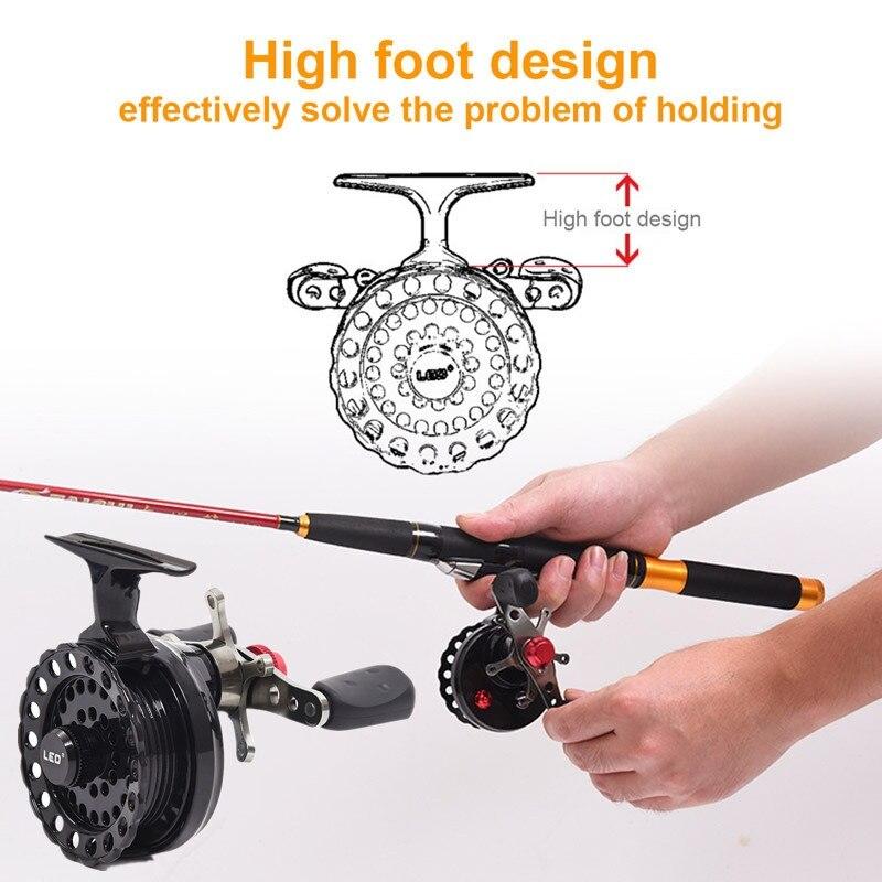 65mm roda carretel de pesca com mosca
