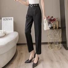 Черные брюки карандаш для женщин модные элегантные офисные работы