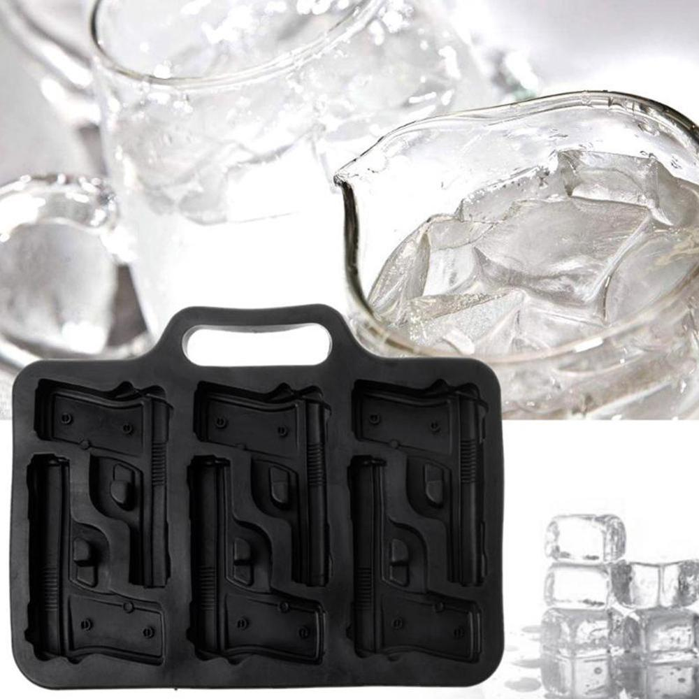 Ice Cube Maker Gun Bullet Skull Shape Ice Cube Tray Cool Whiskey Wine Ice Molds