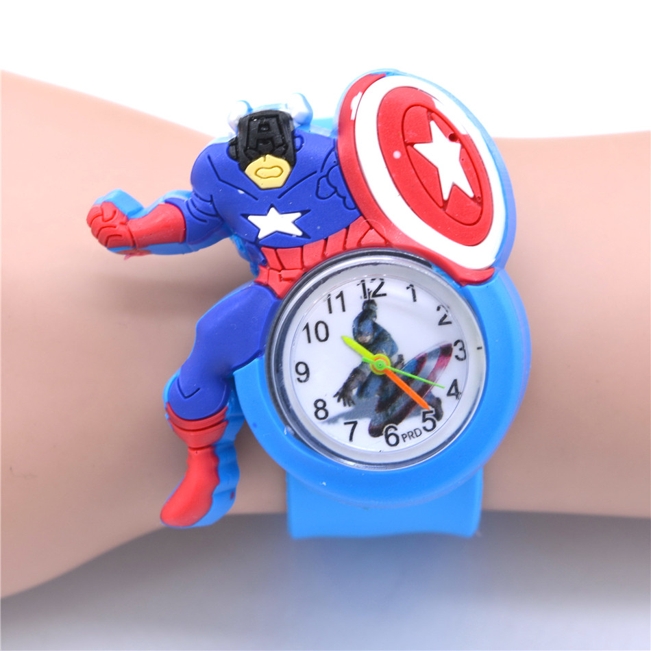 Captain America Kids Watches Avengers Hero Design Style Cartoon Watch For Boys Children Toys Child Christmas Kid Gifts