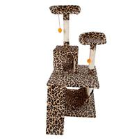 M13 51 Stable Cute Sisal Cat Climb Holder Cat Tower Leopard Print