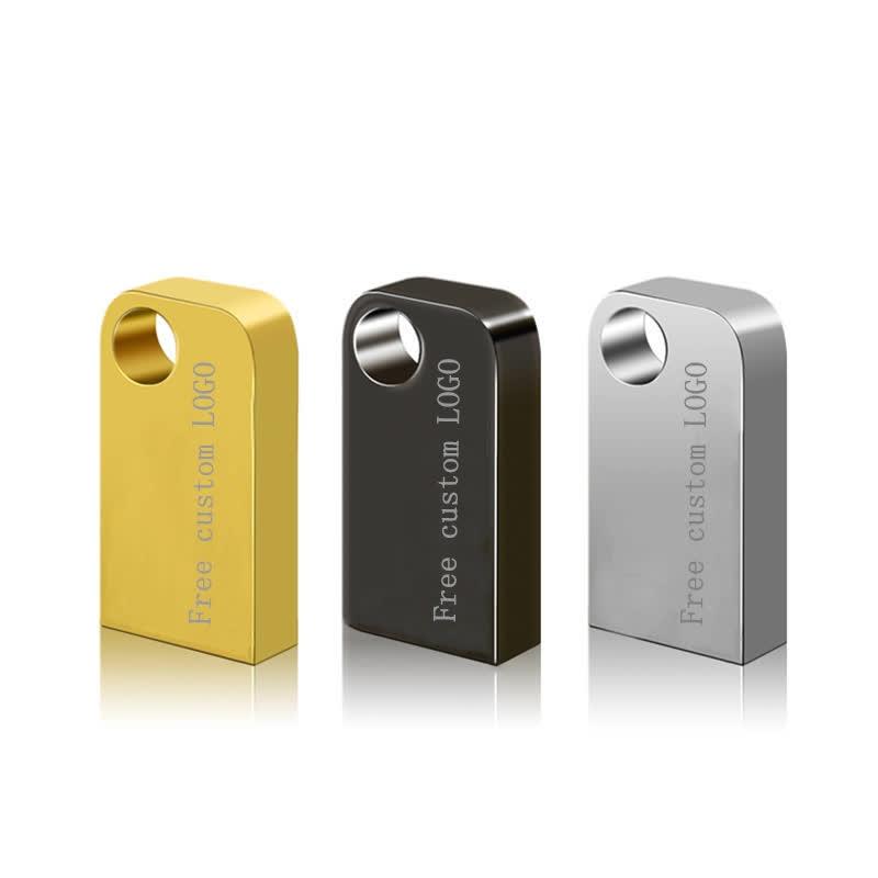 Waterproof Flash Disk USB Memory Stick 64gb Metal USB Flash Drive 32gb 128gb Pendrive 16gb Pen Drive 8gb U Disk Free Custom LOGO