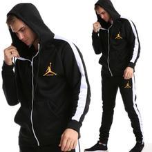 2019 новый бренд спортивный костюм Мода JORDAN 23 Мужская спортивная одежда комплект из двух предметов все хлопок на молнии Спортивная Толстовка + штаны спортивный костюм