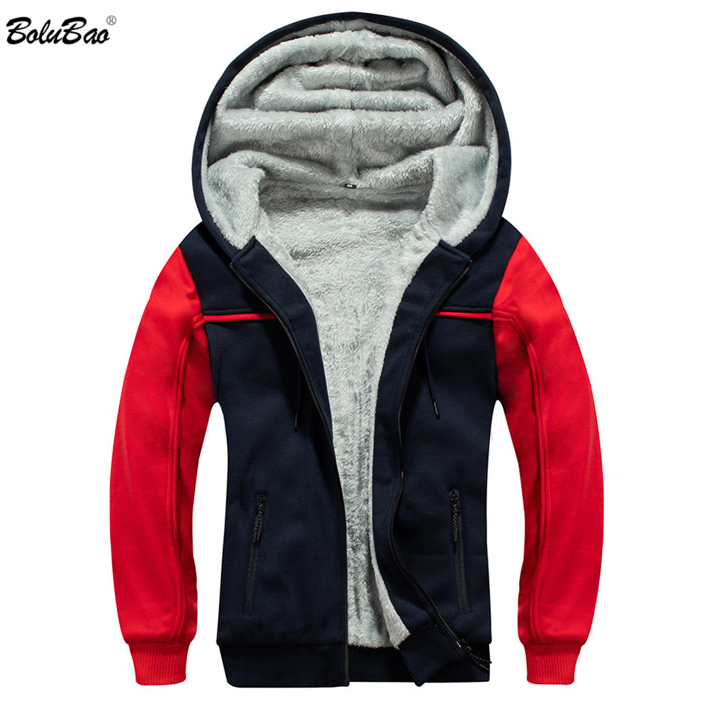 BOLUBAO Winter Brand Men Jackets Street Trend Men's Splice Hooded Tracksuit Male Casual Thick Jacket Warm Coats