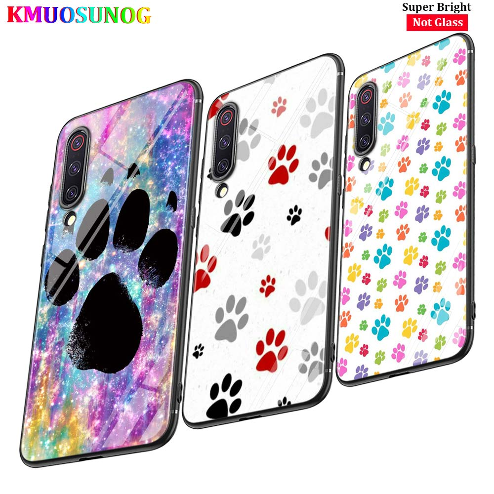 Black Cover Dog Are girls best friends for Xiaomi Mi A1 A2 A3 5X 6X 6 8 9 Lite CC9 F1 9T 9TPro Play Glossy Phone Case image