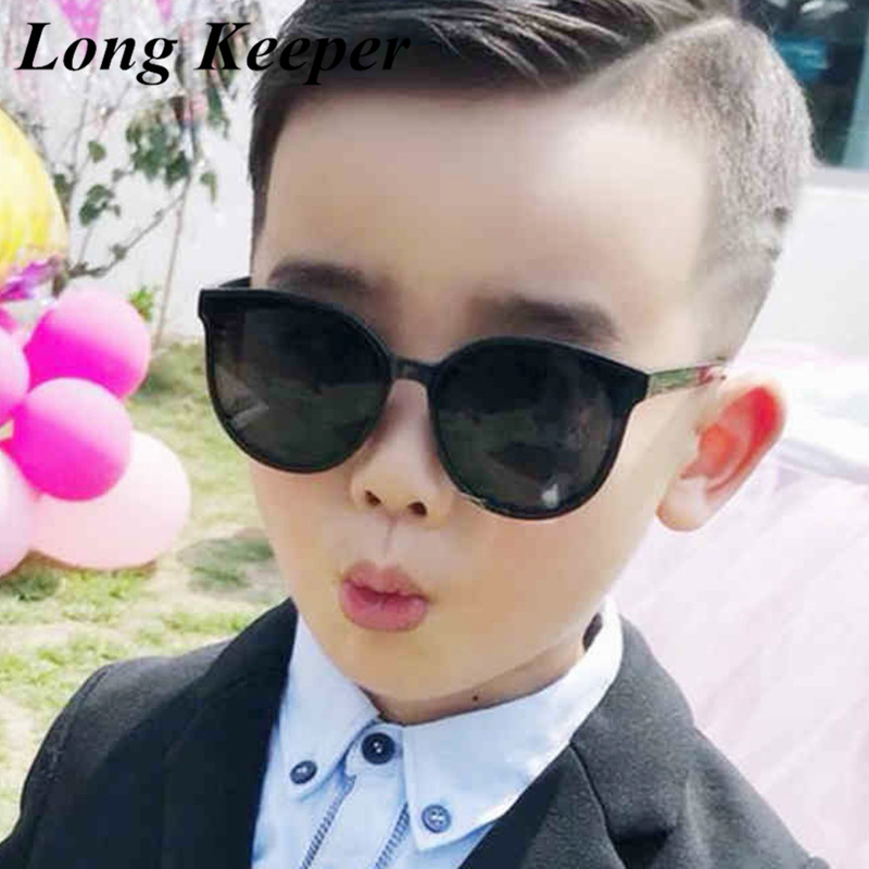 Brand Unisx Kids Cat Eye Sunglasses Girls Boys Baby Children Toddler Round Sun Glasses Vintage Oculos Infantil UV400