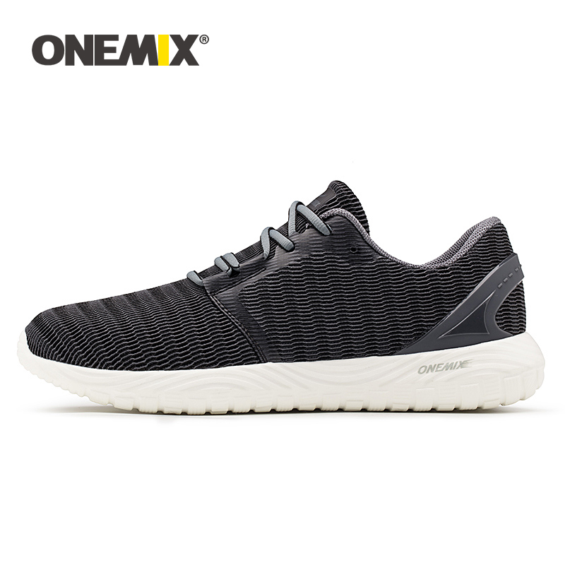 ONEMIX Sports Shoes For Men Lightweight Comfortable Lace-up Walking Sneakers Outdoor Fitness Trainers Men Running Tennis Shoes