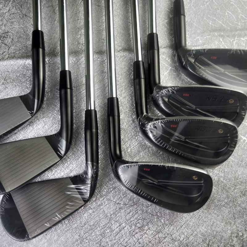 E-PON SUS-316 Golf Clubs Irons Black Golf Forged Iron 4-P A Set Of 7 Pieces R / S Send Headcover Free Shipping