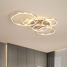 Modern Ceiling Lights For Living Room Circle Gold Brown LED Plafon Decor Bedroom Lamps Fixture With APP dimmable Lustre