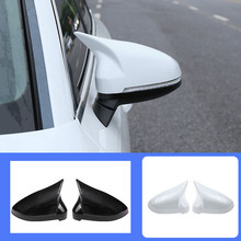 1 Pair of Car Auto Rearview Mirror Shell Cover Protection CapMatte  for Audi B9 A4 A5 S4 Rearview Wing Mirror Cap New Ox horn carbon fiber replace rearview mirror cap covers shell for audi a4 b9 standard allroad 2017 with side assist 2pc white chrom