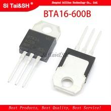 10pcs BTA16-600B PARA-220 BTA16-600 TO220 16-600B BTA16 600V 16A TRIACS novo e original