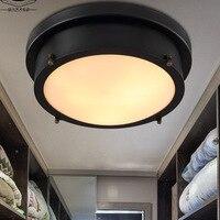 Vintage Eisen Led Retro Flush Mount Decke Licht 110 220V Amerikanischen Stil Led deckenleuchte Lichter WJ122020-in Deckenleuchten aus Licht & Beleuchtung bei