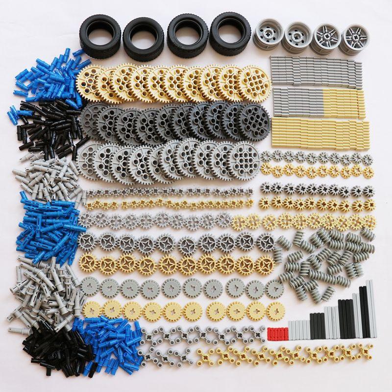 650 шт., блоки для массовых грузов, технические детали, зубчатая рейка, ось, конекторы, MOC шины для машины и грузовика, запасные части, совместим...