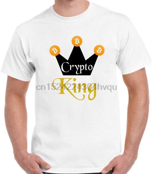 Crypto King Bitcoin Cryptocurrency Blockchain T Shirt NEO Logo Mining Ether