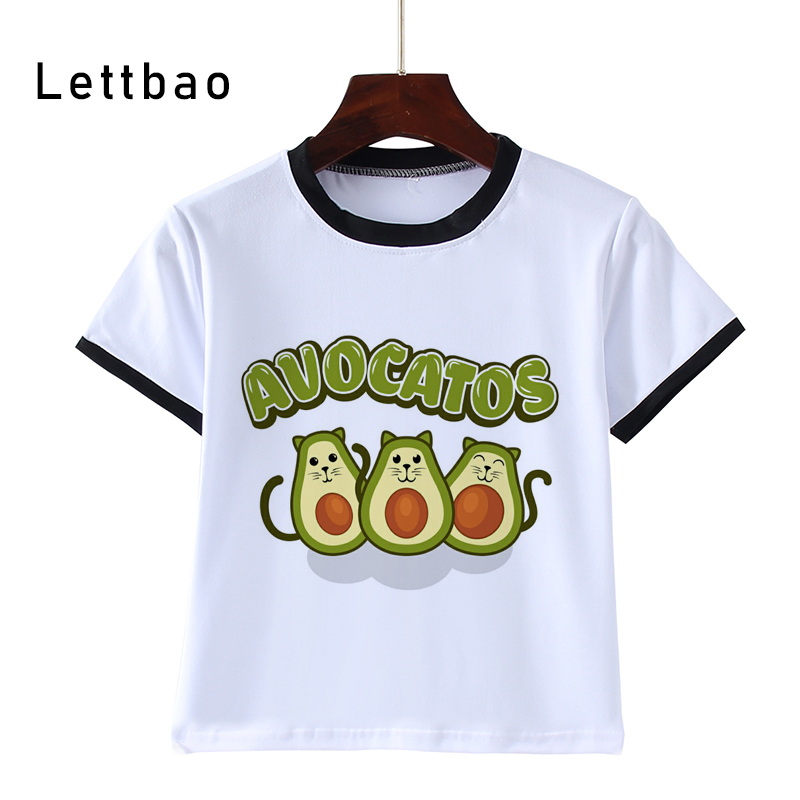 Avocado Children Clothes 2020 Summer Girls Clothes Short Sleeve Tee Tops Print Brand T Shirt