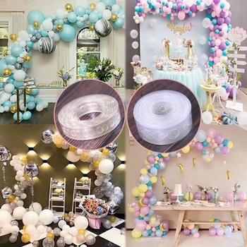 5M akcesoria do balonów łańcuch balonowy guma PVC wstążka Dot ślub tło urodzinowe ozdobny balon łańcuch balonowy łuk tanie i dobre opinie YUEYAO CN (pochodzenie) ROUND Ślub i Zaręczyny Chrzest chrzciny Na Dzień świętego Patryka Wielkie wydarzenie Przejście na emeryturę