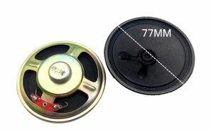 10X диаметр 77 мм ультратонкий Магнитный динамик 8 Ом 3 Вт толщина динамика 20 мм разъемы