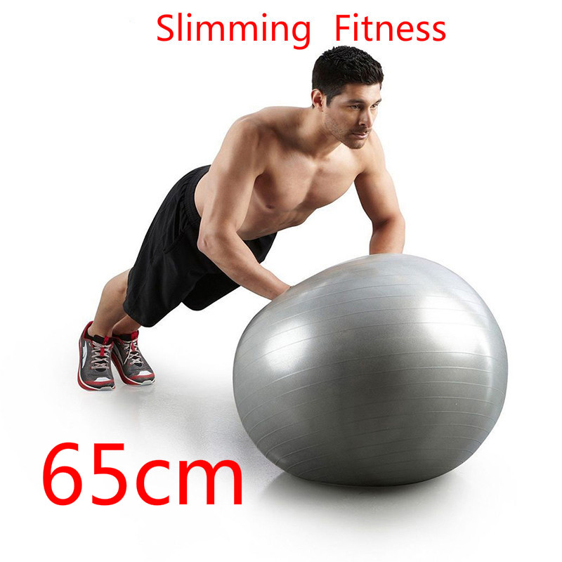 65cm Slimming Yoga Ball Fitball Exercise Gymnastic Fitness Pilates Ball Balance Gym Fitness Yoga  Ball Indoor Training Yoga Ball