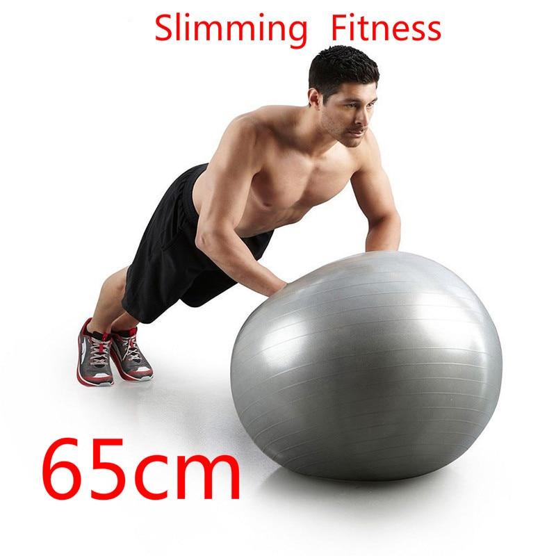 65cm Slimming Yoga Ball Fitball Exercise Gymnastic Fitness Pilates Ball Balance Gym Fitness Yoga Ball Indoor Training Yoga Ball