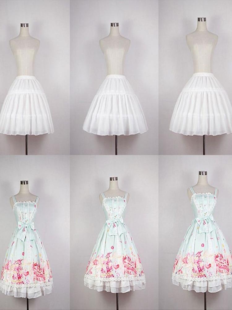 Skirt Petticoat Short Carmen Cosplay Lolita Girls Slip-Liner Adjustable Fish-Bone Cute