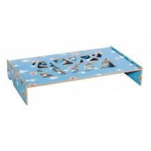 Wood Desk Set Wooden Table Shelf Heighten Adjustable Joy Corner