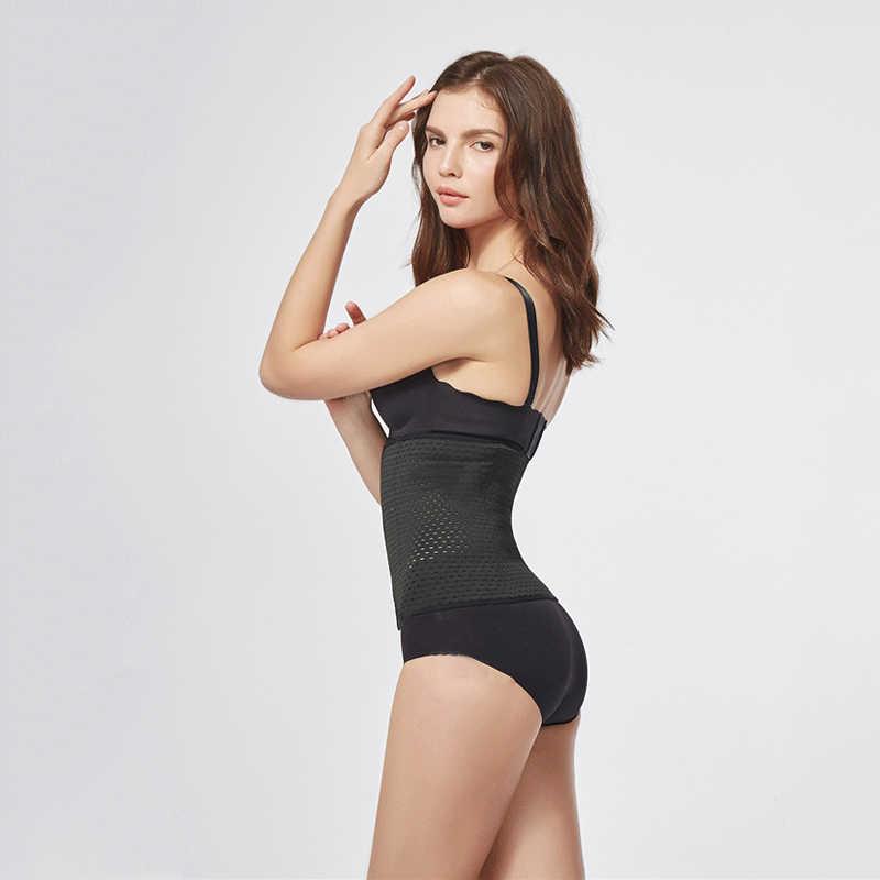 Hirigin forma do corpo das mulheres respirável cintura forma de borracha formador cincher underbust shapers corset modelo fita