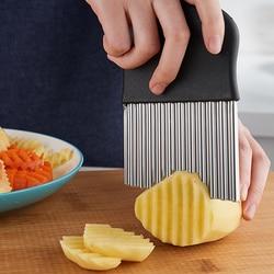 Cortador ondulado de batata de aço inoxidável, cortador, ralador, batata, batata, vegetais, triturador, ferramentas de corte, utensílios de cozinha