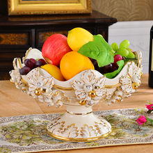 European Fruit Plate Set Luxury Ceramic High-grade Household Modern Tea Table Setting Creative Living Ro