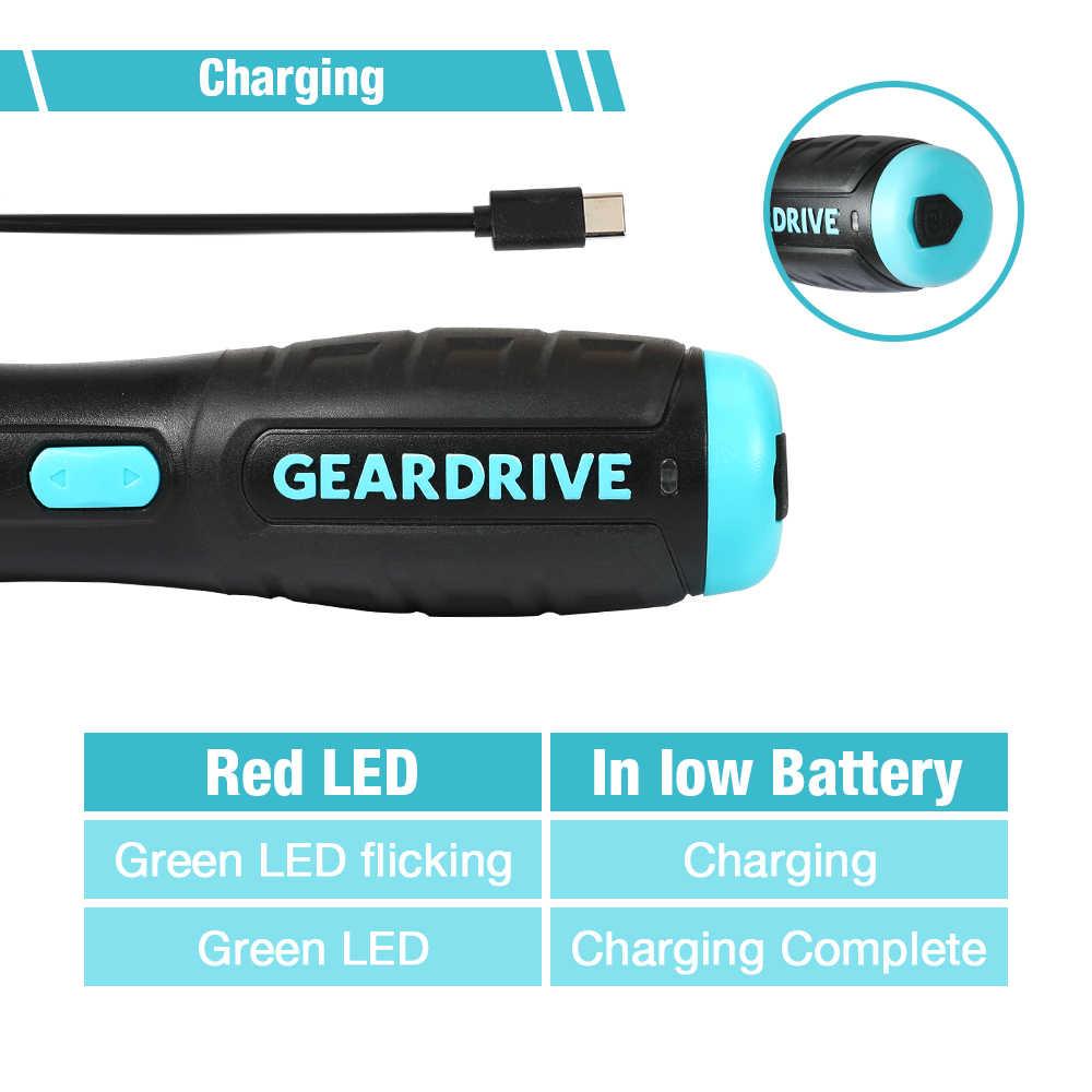 Workpro 3.6v 33 em 1 elétrica-chave de fenda com bits mini chave de fenda de torque recarregável usb portátil