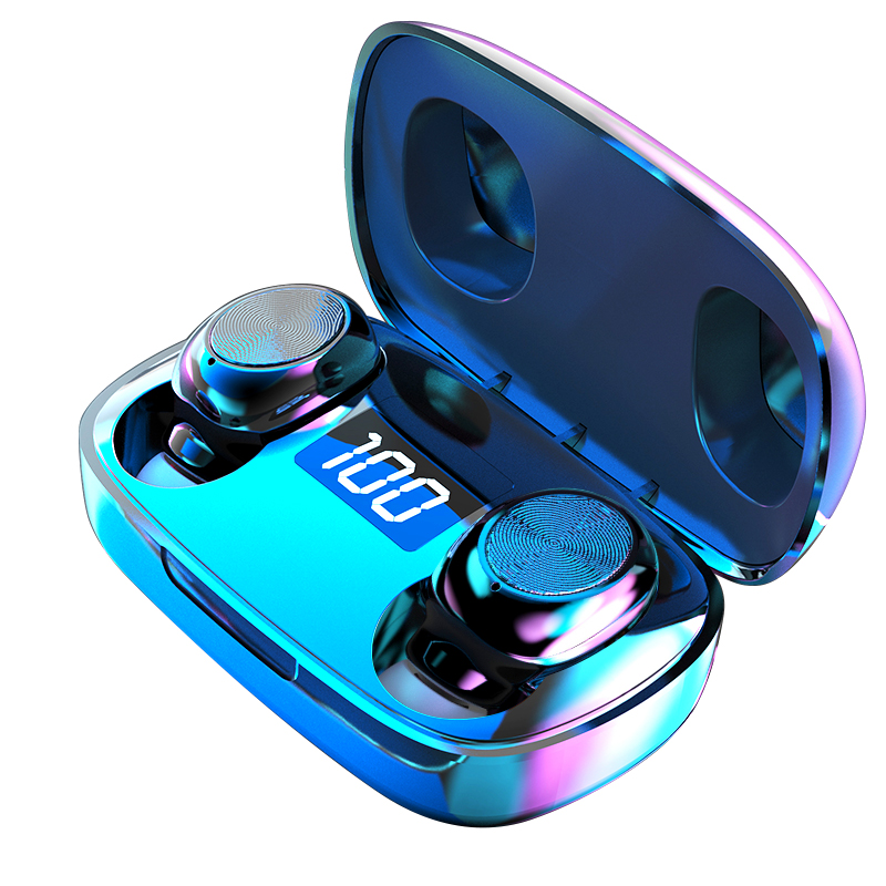 <font><b>TWS</b></font> Bluetooth 5.0 Earphones Wireless <font><b>6D</b></font> Stereo In-Ear Active Noise Cancelling Gaming Headset for Smartphones HIFI Mini image