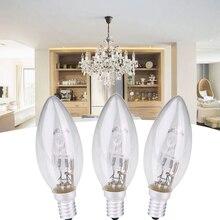 2/4/6 Uds E14 AC 220v-240v lámpara halógena bombilla vela forma 28W iluminación domésticos