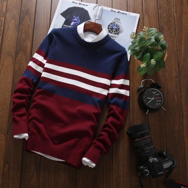 Мужской трикотажный свитер в офисном стиле на каждый день 3