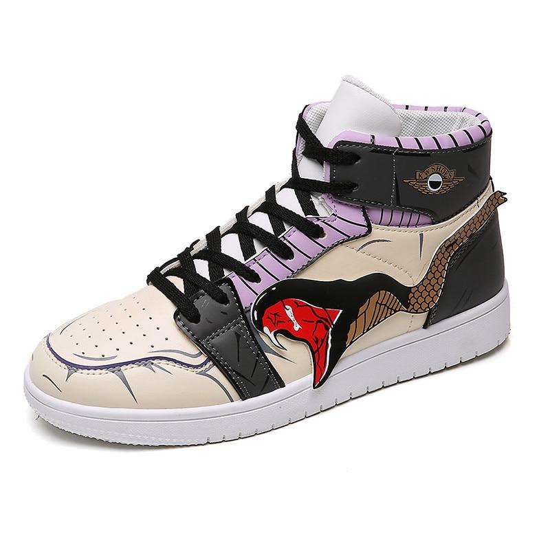 Light Basketball Shoes Men High-top Sport Cushioning Men Casual Shoes Comfortable Cartoon Basketball Sneakers