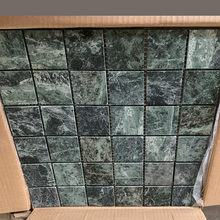 300*300 Large Green Square Marble Tile Wall Decoration