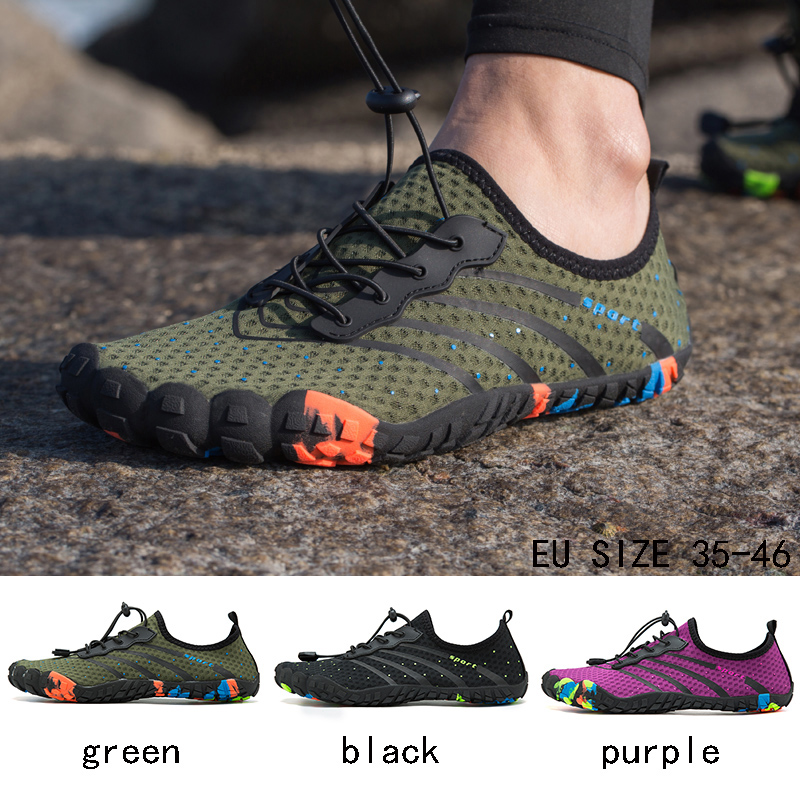 Fashion Shoes Summer Water Shoes Men Breathable Beach Slippers Upstream Shoes Woman Swimming Sandals Diving Socks  Masculino
