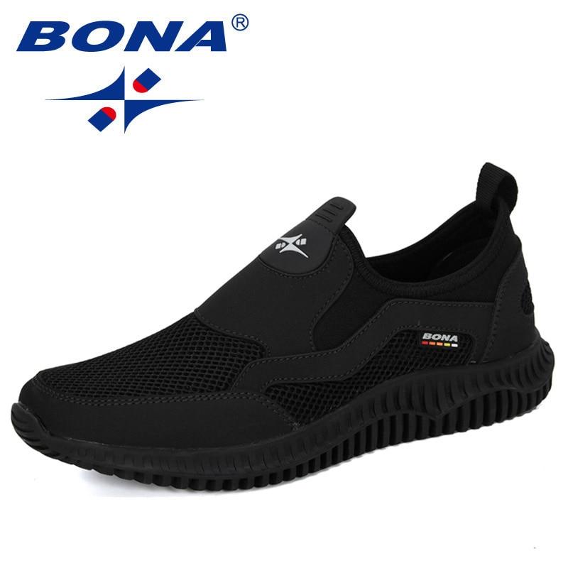 BONA 2020 New Arrival Mesh Breathable Krasovki Shoes Men Super Light Casual Shoes Man Tenis Masculino Sneakers Male Footwear