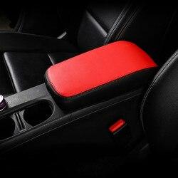 Skórzane pudełko do środkowego podłokietnika rękaw ochronny dekoracja do Mercedes Benz GLA X156 CLA C117 klasa A W176 2014-2018