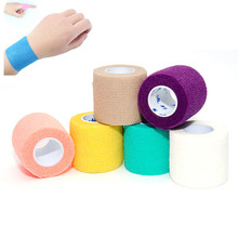 Gauze-Dressing-Tape Self-Adhesive Ankle-Finger Elastic Colorful 5cm 1PCS Wrist-Support