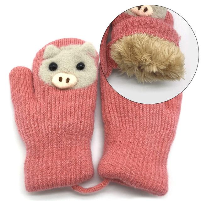 Βρεφικά χειμερινά ζεστά πλεκτά γάντια Παιδικά Ρούχα Ρούχα MSOW