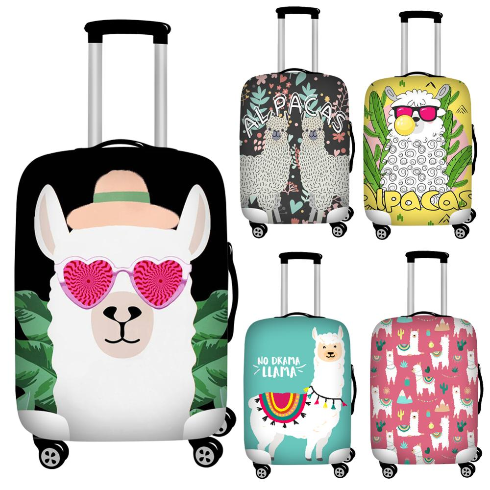 Printing Alpaca Travel Luggage Dust Cover Waterproof Protective Suitcase Cover For 18''-32'' Trolley Trunk Case Foldable