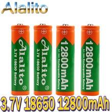 Аккумулятор Alalito литий-ионный высокой емкости, 3,7 в, 18650, 12800 мАч